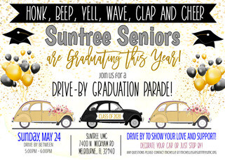 Senior Class of 2020 Drive-By Parade!